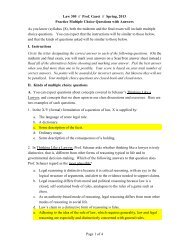 Sample Multiple Choice Questions Remedies - School of Law