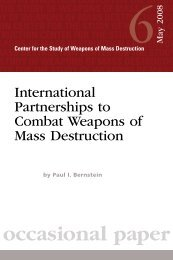 International Partnerships to Combat Weapons of Mass Destruction
