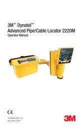 3M™ Dynatel™ Advanced Pipe/Cable Locator 2220M