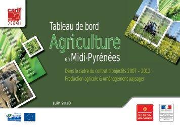 Tableau de bord Agriculture 2010 - Carif Oref Midi-Pyrénée