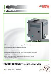 RAPID COMPACT metal separator - Eclipse Magnetics