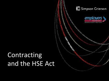 Contracting and the HSE Act