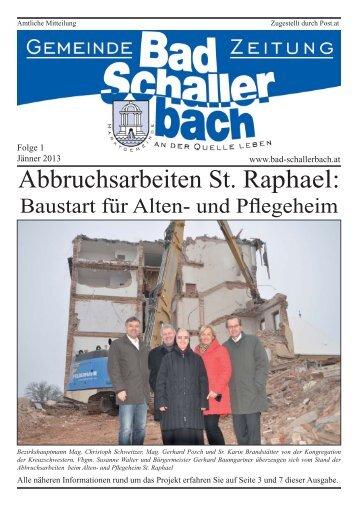 Folge 1.indd - Gemeinde Bad Schallerbach