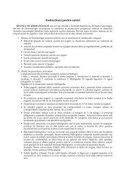 Instructiuni pentru autori - Societatea romana de dermatologie