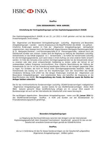 DuoPlus - Internationale Kapitalanlagegesellschaft mbH