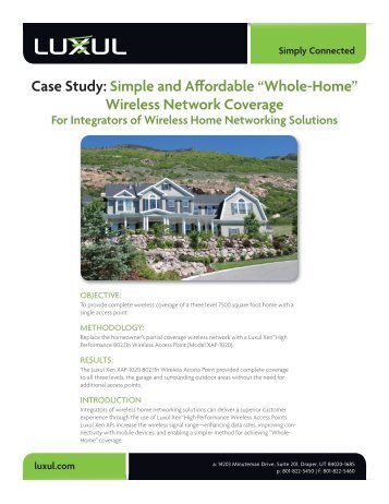 Using a Wireless Bridge to Provide Remote Network ... - Luxul on home design styles, cable design, new pc design, home wireless design, outside plant design, camera design, home audio design, home theater media center pc, router design, house design, home lan design, home electrical wiring diagrams,