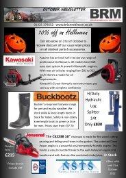 10% off on Halloween - Brian Robinson Machinery
