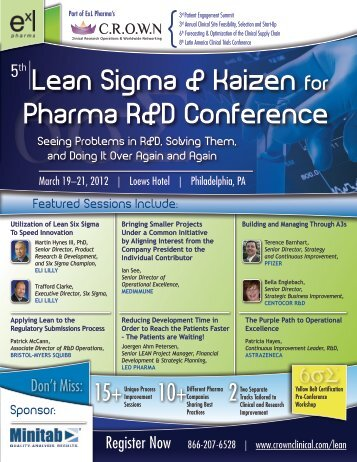 Lean Sigma & Kaizen for Pharma R&D Conference