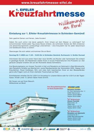 Kreuzfahrtmesse Mailing S1.eps - Reisebüro Schäfer GmbH