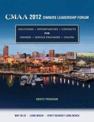 2012 Owners LeADersHIP FOrum - CMAA