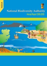 Annual report 2009.pmd - National Biodiversity Authority