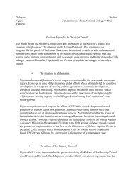 Position Paper Nigeria- Security Council - munol