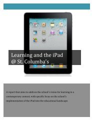 Learning and the iPad-1Vs2 - St Columba's, Springwood