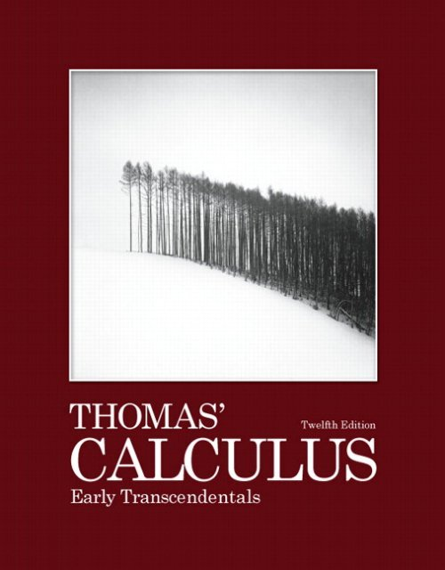 Thomas Calculus 12th Edition Textbook