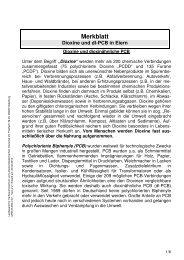 Merkblatt Dioxine/dl-PCB