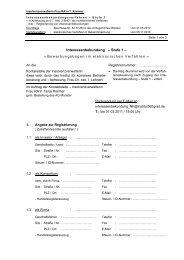 Interessenbekundung – Stufe 1 – - Institut 360 Grad