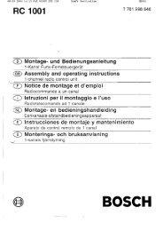 Bosch RC 1001 - Somfy