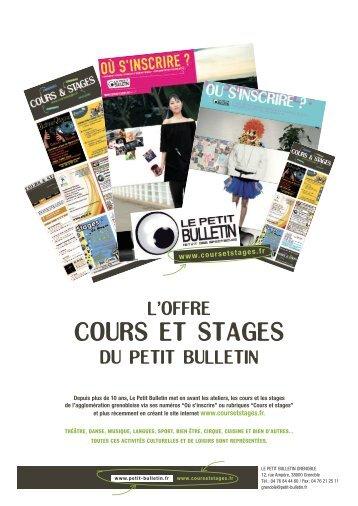 cours et stages - Le Petit Bulletin