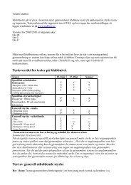 Testoversikt for tester på klubbnivå. Test av ... - IdrottOnline Klubb