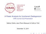 A Power Analysis for Incoherent Dedispersion - CIRA Journal Club ...
