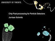 Chip Post-processing for Particle Detectors Jurriaan Schmitz - Joint ...