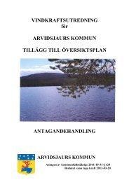Vindkraftsutredning - antagandehandling med ... - Arvidsjaur