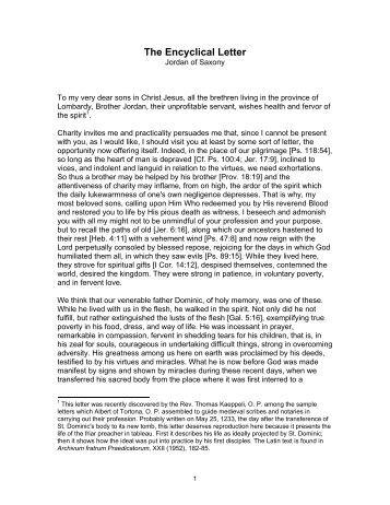 encyclical letter the catholic primer