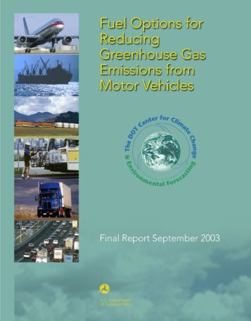 Fuel Options for Reducing Greenhouse Gas Emissions from Motor ...