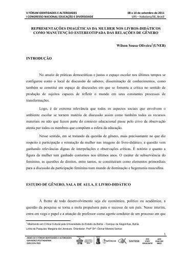 REPRESENTAÇÕES IMAGÉTICAS DA MULHER NOS LIVROS ...