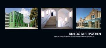 Dialog Der epochen - BDA Berlin