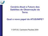 Cenário Atual e Futuro dos Satélites de Observação da ... - INPE-DGI