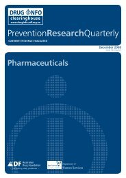 Full report [PDF: 1MB](new window) - DrugInfo - Australian Drug ...