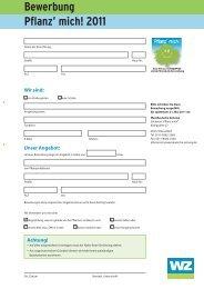 Anmeldung 2011 Pflanz mich.indd - Westdeutsche Zeitung