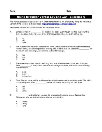 fill in the correct form of the irregular verb � all