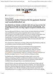 Architekten träumen Tempelhof- Vision - BDA Berlin