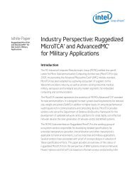 Industry Perspective: Ruggedized MicroTCA* and AdvancedMC* for ...