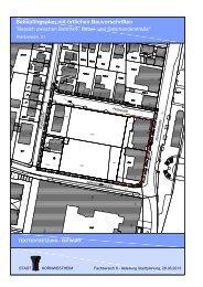 Bebauungsplan mit örtlichen Bauvorschriften - Der Gemeinderat