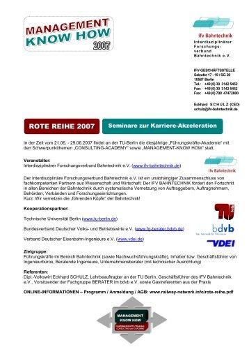 ROTE REIHE 2007 - IFV Bahntechnik