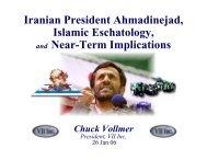 Iranian President Ahmadinejad, Islamic Eschatology, and Near ...