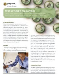 Pooled Collateral Program Brochure (PDF, 1MB) - Texas ...
