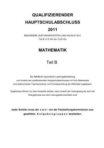 QA Mathematik 2011 Teil B - Volksschule-erkheim.de