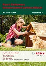 BOSCH elektromos kéziszerszámok barkácsolóknak 2011/2012-es ...