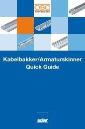 Kabelbakker/Armaturskinner Quick Guide - Solar Danmark A/S