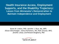 Health Insurance Access, Employment Supports, and the Disability ...