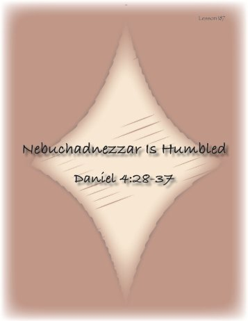 Nebuchadnezzar Is Humbled