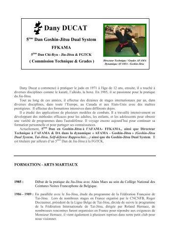 Dany DUCAT - Association Francophone d'Arts Martiaux Affinitaires