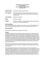 12-6-11 board meeting minutes - Bend Parks and Rec