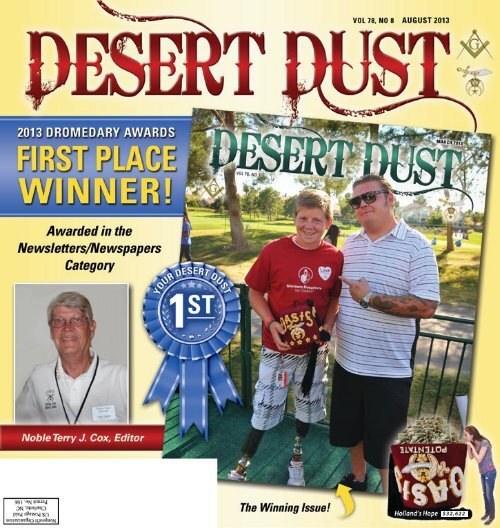 DESERT DUST AUGUST 2013 PAGE 1 - The Oasis Shriners