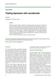 Treating depression with cannabinoids - International Association ...