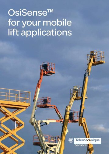 OsiSense™ for your mobile lift applications - Schneider Electric